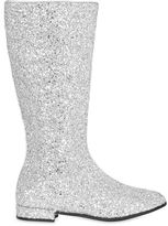 Miss Blumarine Glittered Leather Boots
