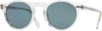 Oliver Peoples Gregory Peck Round Acetate Sunglasses
