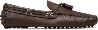 Car Shoe Tassel-Embellished Loafers