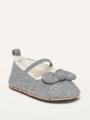 Old Navy Unisex Sherpa-Lined Bow-Tie Ballet Flats for Baby