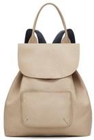 Elizabeth and James 'Langley' Pebbled Leather Backpack - White