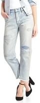 Gap Mid rise destructed vintage straight jeans