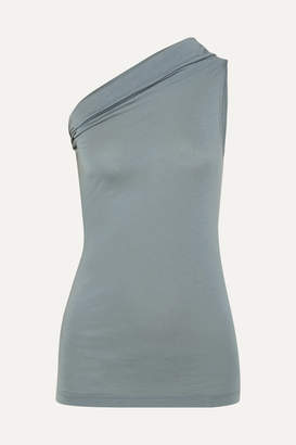 Rick Owens One-shoulder Stretch-jersey Top - Light gray