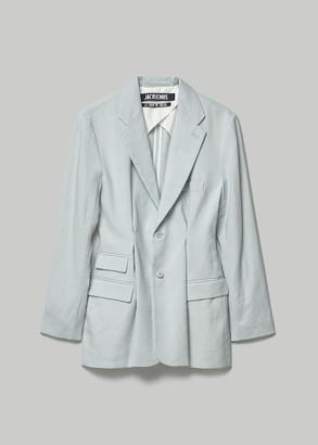 Jacquemus Women's La Veste Raffaella Jacket in Blue Size 34