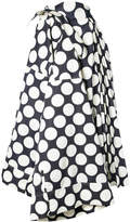 Awake polka-dot flared skirt