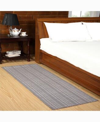 "Home Weavers Woolen Silk Rib 24"" x 72"" Accent Rug Bedding"