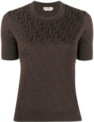 Fendi jacquard FF motif T-shirt