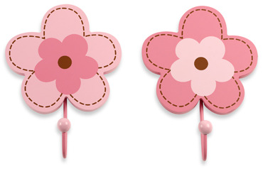 NoJo Flowers 2-Pack Decorative Wall Hooks