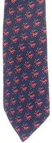 Hermes Silk Deer Print Tie