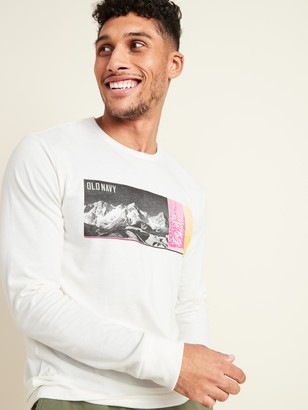 Old Navy Soft-Washed Logo-Graphic Long-Sleeve Tee for Men