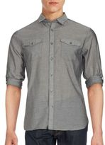 John Varvatos Solid Cotton Shirt
