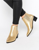 Office Amber Stud Metallic Heeled Chelsea Boots