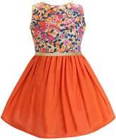 A.T.U.N. Floral Fit & Flare Dress - Orange, Size 12-13y