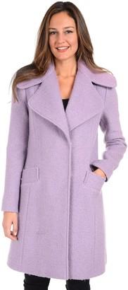 Fleet Street Women's Princess Seam Boucle Coat