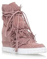 Casadei Chaucer Radical Fringed Wedge Boots