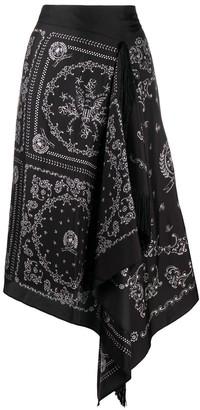 Tommy Hilfiger Bandana Print Asymmetric Midi Skirt