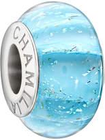 Murano Chamilia Sterling Silver Blue Glass Bead