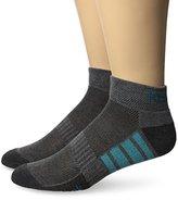 Reebok Men's 6 Pack Cushion Performance Quarter Sock Blue