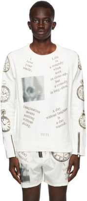 TAKAHIROMIYASHITA TheSoloist. White French Terry Sweatshirt