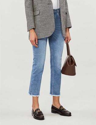 Maje Pacha raw-cuffs high-rise jeans