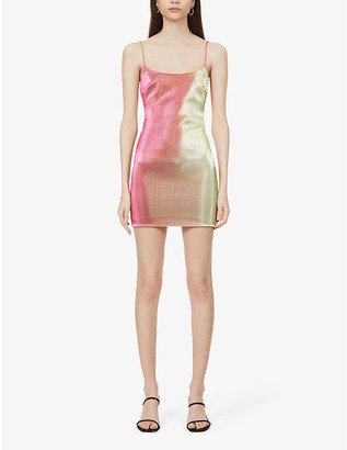 Bec & Bridge Magenta Magic lame mini dress