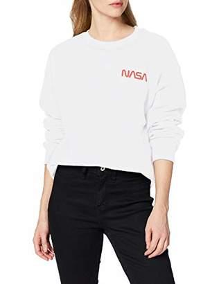 Brands In Limited Women's NASA Modern Logo Pocket Sweatshirt,14 (Size:)
