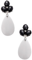 Rina Limor Fine Jewelry 14K White Gold, Agate & 0.04 Total Ct. Diamond Drop Earrings