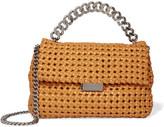 Stella McCartney Becks Woven Faux Leather Shoulder Bag - Saffron