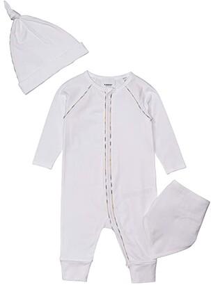 BURBERRY KIDS Dixie Set (Infant) (White) Kid's Active Sets