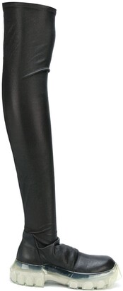 Rick Owens Performa thigh-high stocking boots