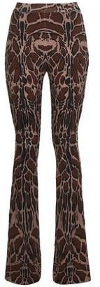 Roberto Cavalli Printed Wool-blend Bootcut Pants