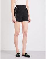 Maje Idoine high-rise jacquard shorts