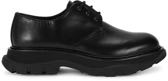 Alexander McQueen Tread Black Leather Derby Shoes