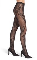 Natori Women's Feather Lace Fishnet Tights