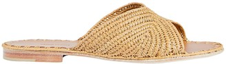 Carrie Forbes Salon Raffia Slide Sandals