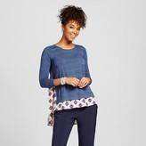 Xhilaration Women's Knit-to-Woven Long Sleeve Juniors')