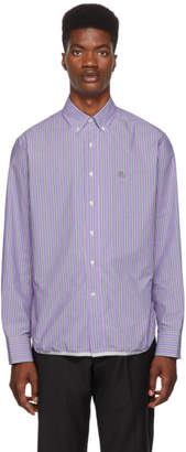 Lanvin Purple Striped Shirt