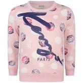 Kenzo KidsGirls Pink Floral Print Sweater