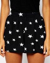 Asos Culotte Shorts in Star Print