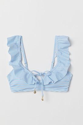 H&M Padded bikini top with a frill
