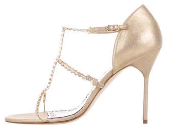 Marchesa Deena Embellished Sandals Metallic Deena Embellished Sandals