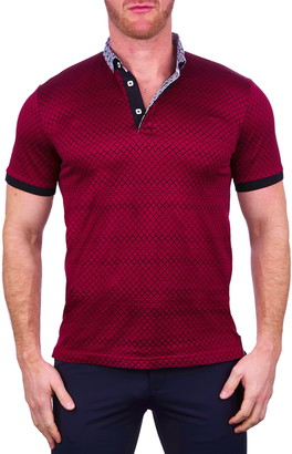 Maceoo Mozartmaille Red Button-Down Polo