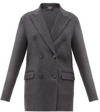 Rochas Double-breasted Wool-blend Flannel Jacket - Grey
