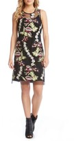 Karen Kane Women's Floral Embroidery A-Line Dress
