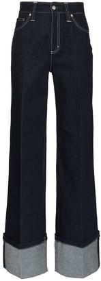 Chloé Wide Leg Oversized Cuff Jean