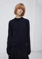 Jil Sander dark blue asymmetrical sweater