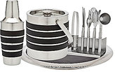 Godinger Leather & Stainless Steel 9-Piece Bar Tool Set