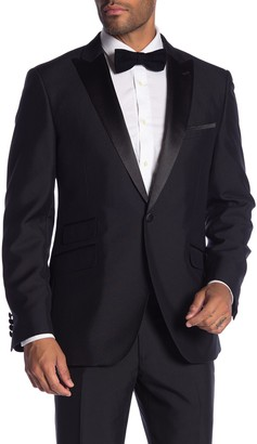 Thruxton Black One Button Peak Lapel Modern Fit Tuxedo Jacket