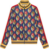 Gucci GG Wallpaper technical jersey jacket - men - Cotton/Polyester - XS