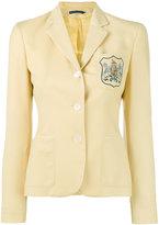 Ralph Lauren embroidered emblem blazer - women - Wool/Viscose - 4